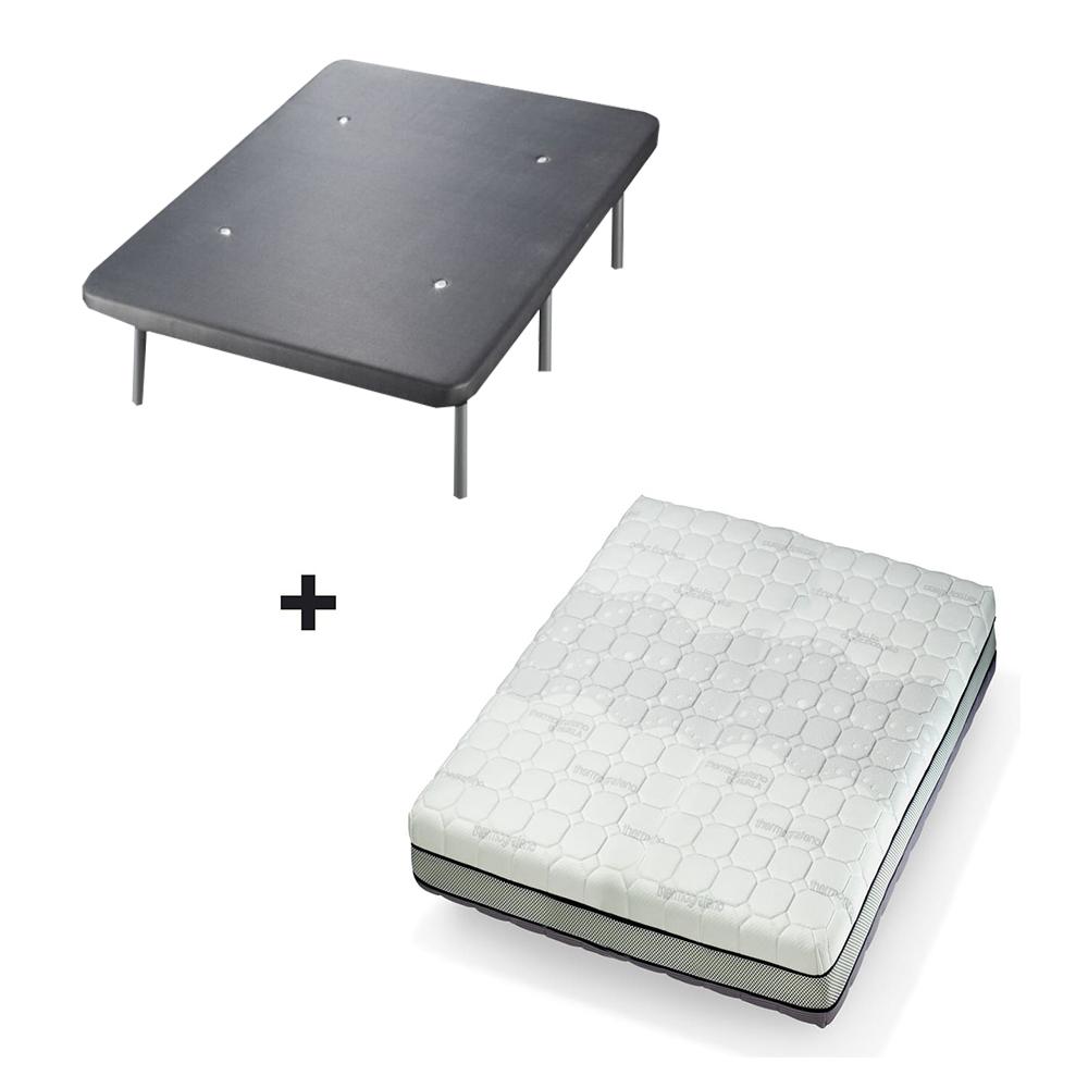 Pack fijo 5***** Colchón Termotech Grafeno + Base tapizada